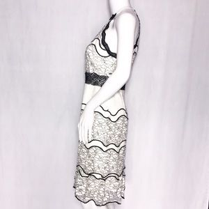 Foxiedox Embroider Lace Halter Off-White &Black Sm